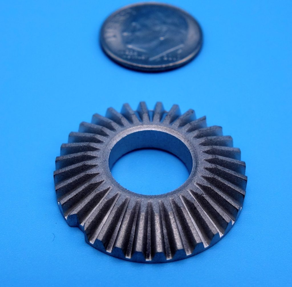Bevel gear with indicator notch