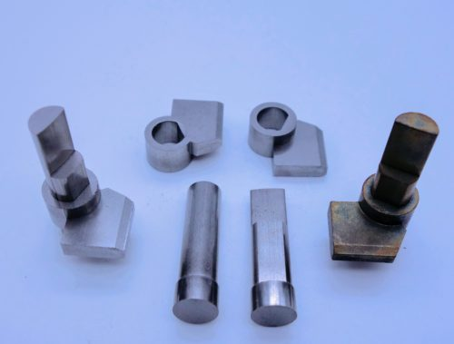Two piece assembly sintered together automotive shift by wire